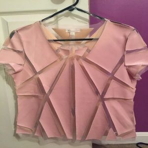 Pink geometry shirt size small